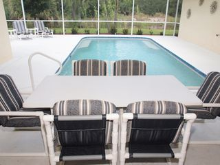Briarwood Naples house photo - private pool area overlooking the canal