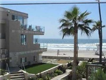 Mission Beach townhome rental - One house from ocean. View in front of the main house (not inside the unit)