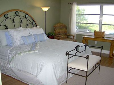 Redington Shores house rental - King bed in master bedroom. Pool and Gulf front.
