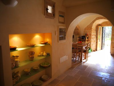 Ostuni chateau / country house rental - corridor/living space