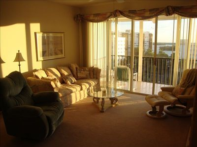 Beautiful sunrises greet you from this eastern view of the living room!