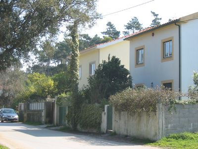 Villa Manuela (on left) from the lane