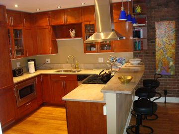 Kitchen w/ Viking Stove, Instant Hot Water, DW, DP