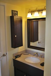 Tahoe Keys condo rental - sink area - jack and jill bathroom