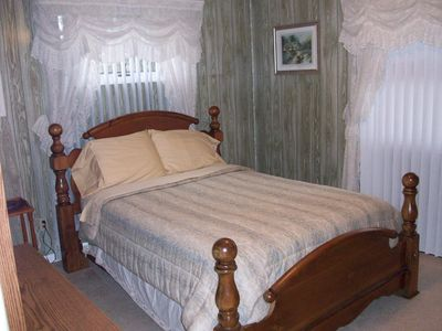 Lake George house rental - First floor Master Bedroom with full bath