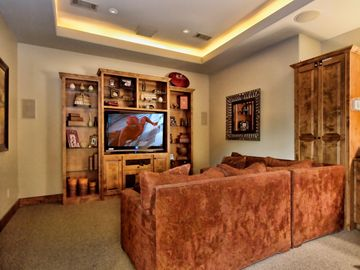 Downstairs Media Room is the perfect place for movie or game night!