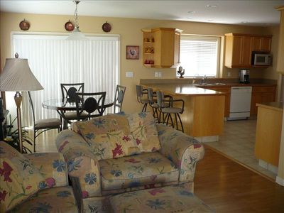 Spacious,Large Kitchen , eating area and family room with electric fireplace