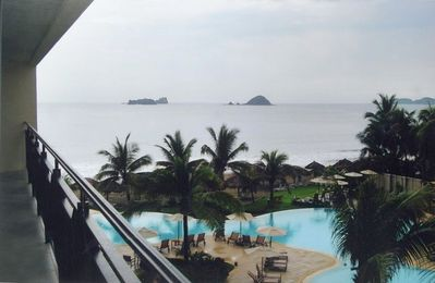 Infinity pool and ocean view from balcony C-301