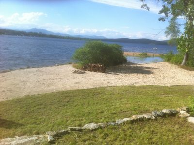 Ossipee Lake house rental - The front beach, only 25 feet from the house.