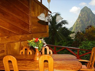 Soufriere villa rental - Dinning table