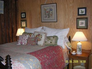 Meadows of Dan cabin photo - Double Bedroom with Antique Furnishings
