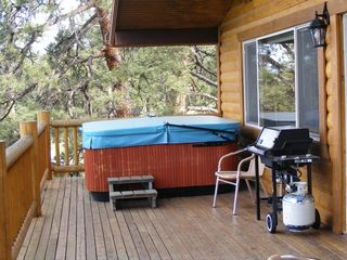 Florissant cabin photo - It is just not the same without a hot tub after a long day of playing.
