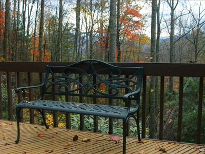 Fall view of ridge line from wraparound deck