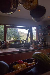 the view of Topanga State Park out the kitchen window.