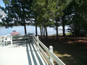 Large deck overlooking Lost Lake.