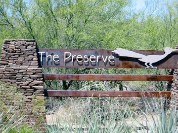 The Dove Mountain Preserve is a safe, gated community with trails for walking.