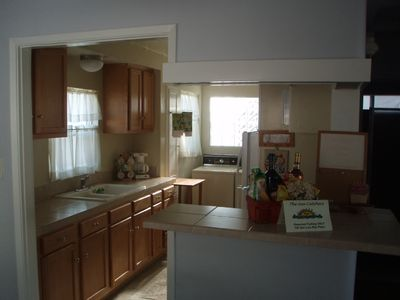 Great Kitchen, washer/dryer & gift basket