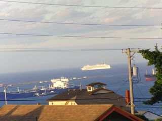 Port Angeles house photo - Saturday Evening Parade of Cruise Ships Headed for Alaska--Photo from upstairs