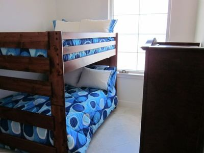Third Bedroom with Large Full-Sized Bunk Beds for the Kids or Additional Adults