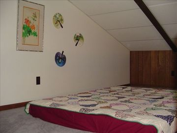 Tha additional loft area is great for kids. headroom approx 5'10""