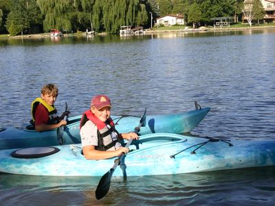 Guests enjoy birdwatching & exploring the bays by kayak/canoe