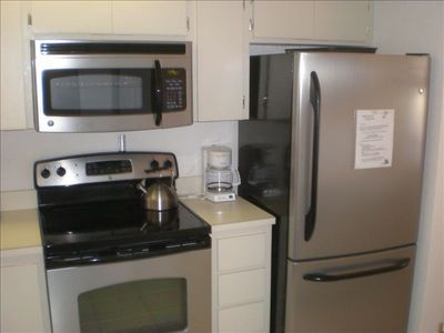 Newer Kitchen appliances including dishwasher