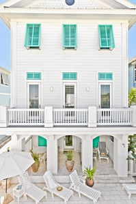 Rosemary Beach house rental - MAIN--Pool Side Courtyard