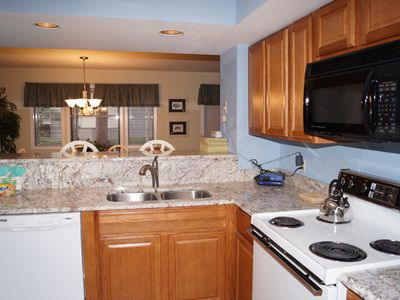 Kitchen with updated granite