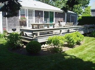 Siasconset cottage photo - Sunny 16'X30' rear deck with Brown-Jordan furniture and Weber grill