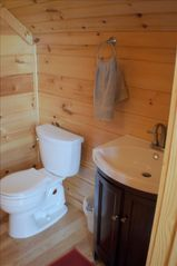 Watauga Lake cabin photo - 1/2 bathroom upstairs off loft and fooseball table