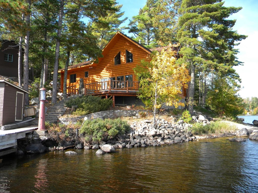 Luxurious Wilderness New Log Home Borders Vrbo