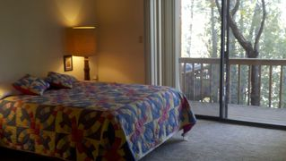 Flagstaff cabin photo - Private balcony off master bedroom overlooks pines