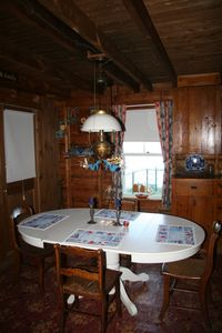 Westport Island cottage rental - Dining room for 6-8 people...