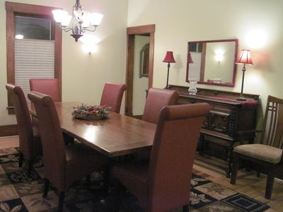 Break out the wine! What a dining room!