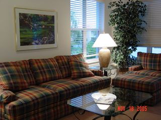 Port St. Lucie condo photo - Living room overlooking pool