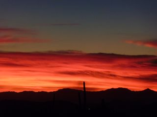 Scottsdale North house photo - View of Sunset from your Casita (Imagine ending your day on our patio...)