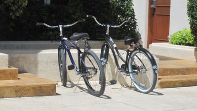Bicycles are a great way of getting around, rented at Front Desk or Grace Bay