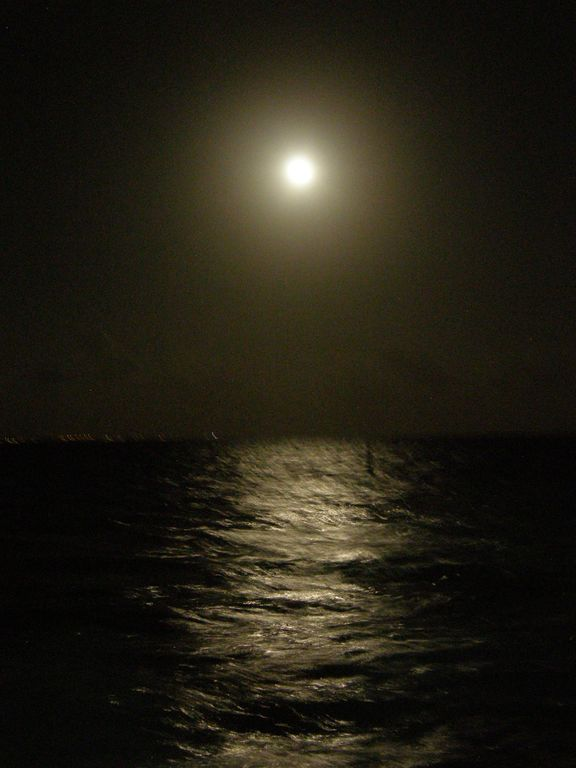 Full moon from our beach