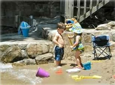 Private Sandy Beach is Ideal for Children
