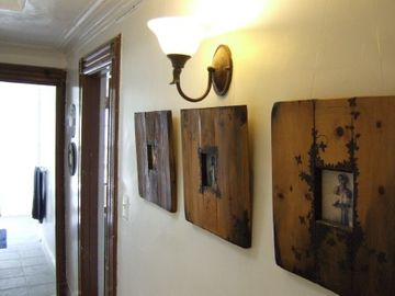 The Home is decorated with antique photos & original art...
