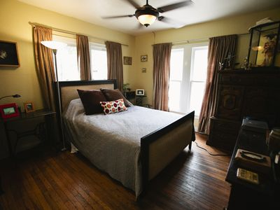 Austin house rental - Master bedroom, luxury & comfort so close to all Austin has to offer.