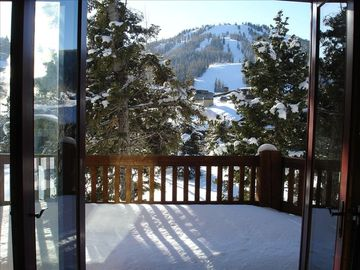 Deer Valley house rental - View from our balcony at Deer Valley Mansion.