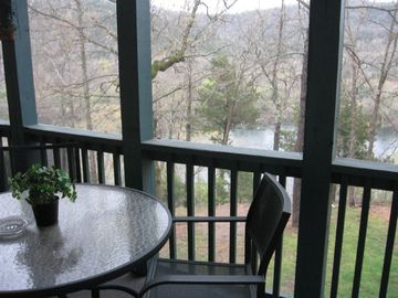 Branson condo rental - Screened deck with lake view!