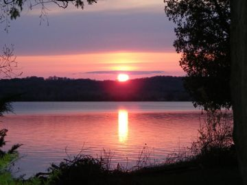 Lake Leelanau house rental - Incredible Sunsets from this Private Frontage Home