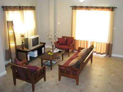 Lounge area equipped with satellite TV & DVD
