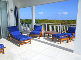 Providenciales - Provo villa photo - Covered patio, relax with a good book or may be time for a nap...