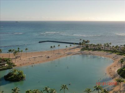 Beautiful Lagoon and Ocean view from your private Lanai