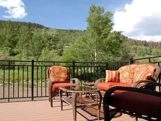 View of open space from back porch. - Keystone townhome vacation rental photo
