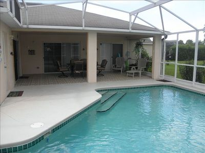 South Facing Pool with covered patio Sun all day !