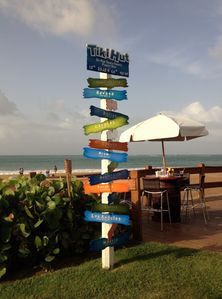 Enjoy your favorite drink in the ocean front Tiki Hut @ Wyndham Rio Mar Resort